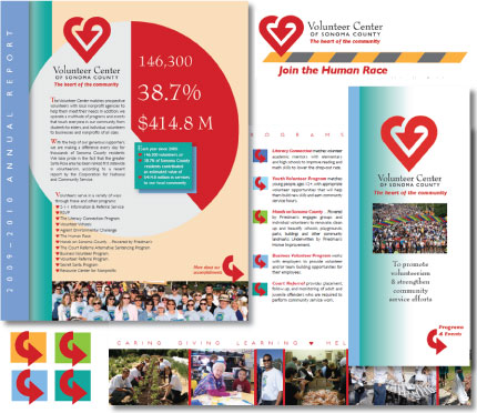 The Volunteer Center communication design by Christine Walker