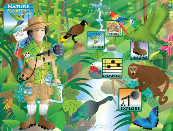 Nature Maestro mobile app splash screen by Christine Walker